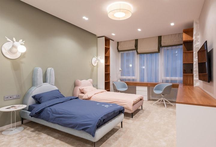Macchiato spalva vaikų kambaryje namuose
