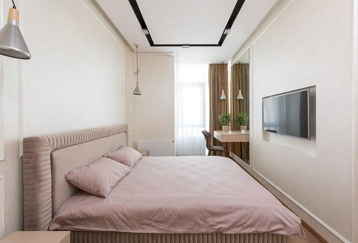 Miegamajam detalės švelni rožinė stilius