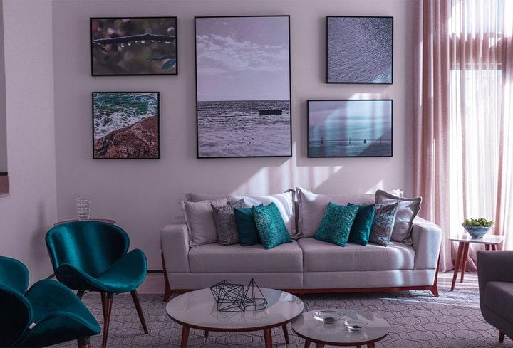 Namuose purpurinė spalva populiariausia