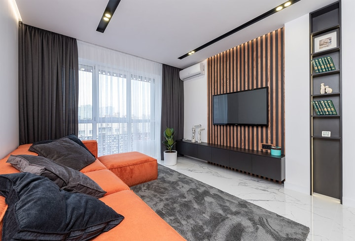 Oranžinė šilti atspalviai jauku namuose