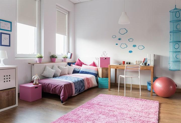 Rožinė vaikų kambariui populiari spalva