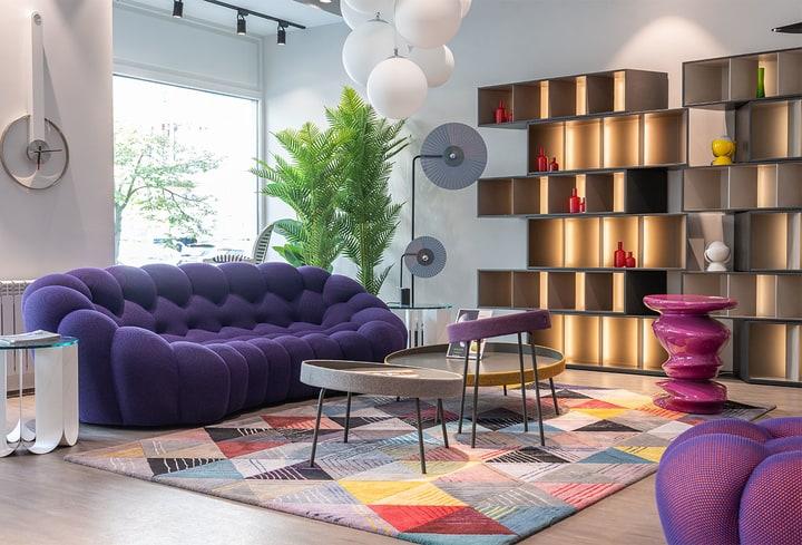 Viešbutyje detalės švelni violetinė stilius