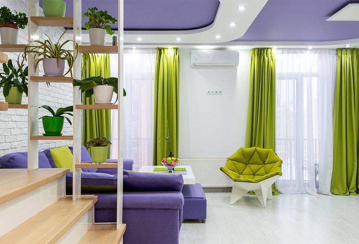 Žalia šilti atspalviai jauku namuose