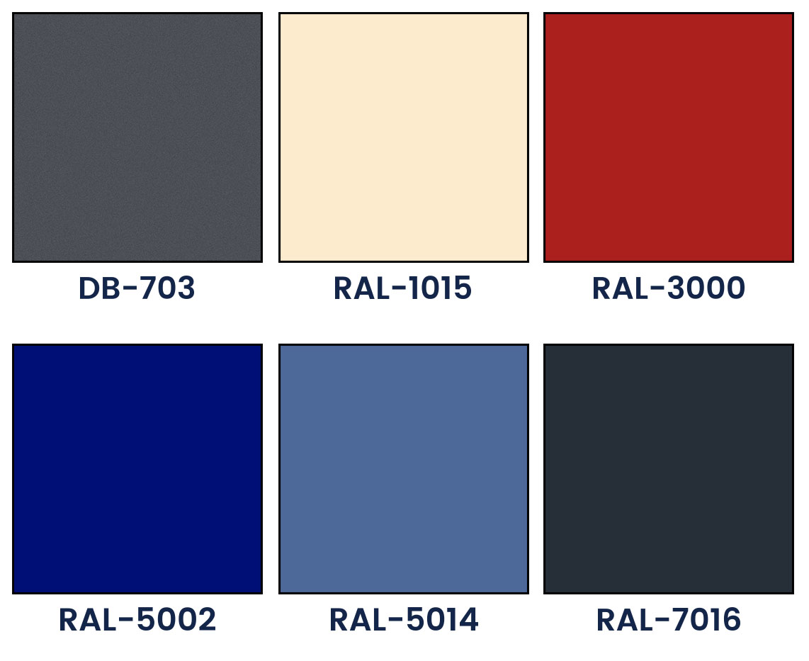 Basic colors of outdoor blinds lamellae