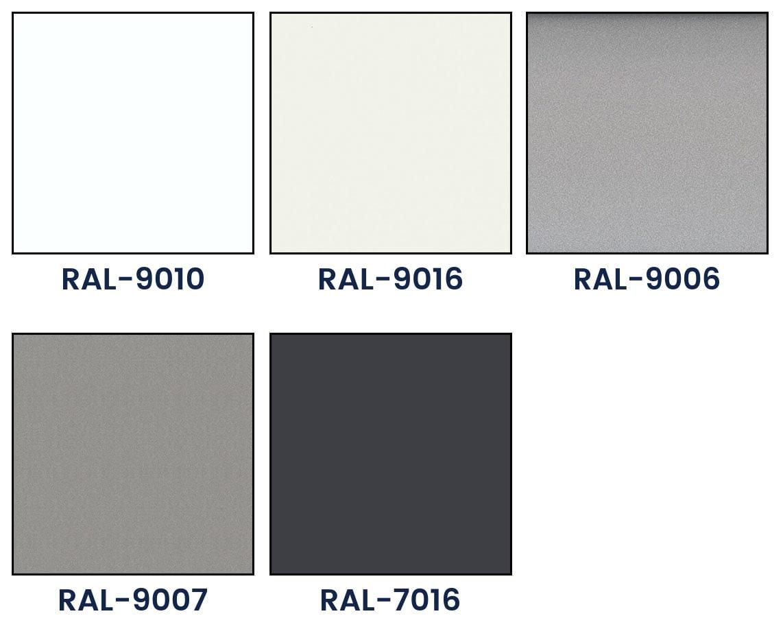 Bazinės C 50 lamelių spalvos paletė