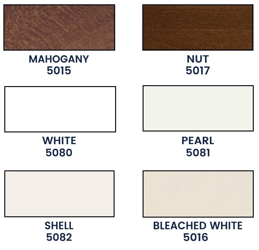 Home blinds wooden color palette