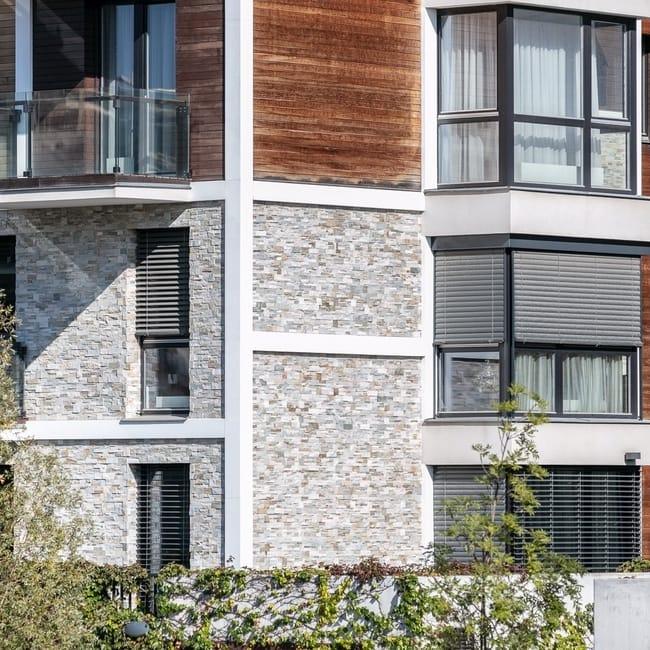 Outdoor blinds panoramic window terrace
