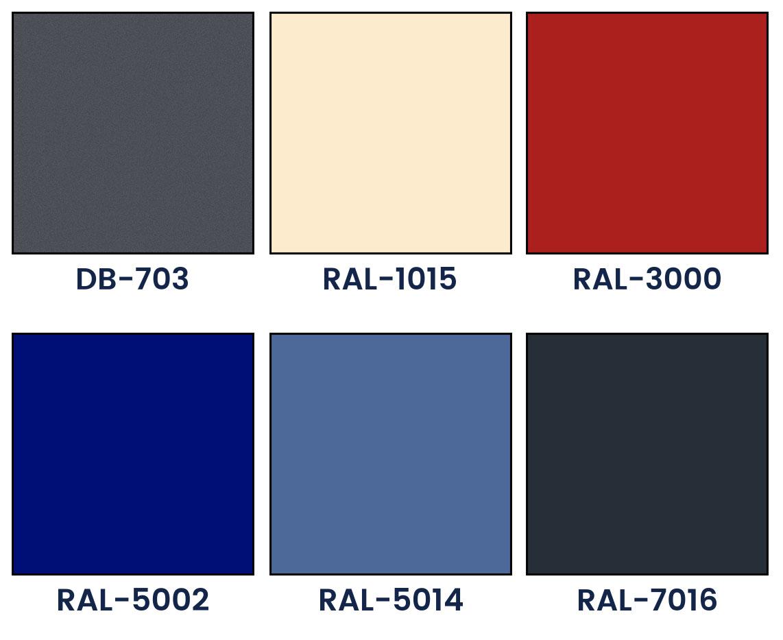 Pagrindinės fasadinių lamelių spalvos