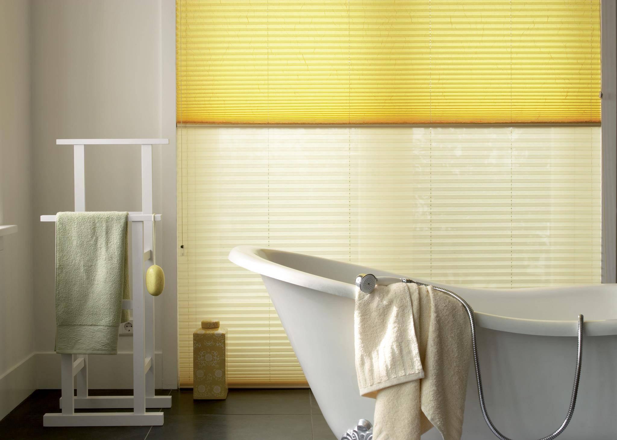 Plisuotos žaliuzės voniai