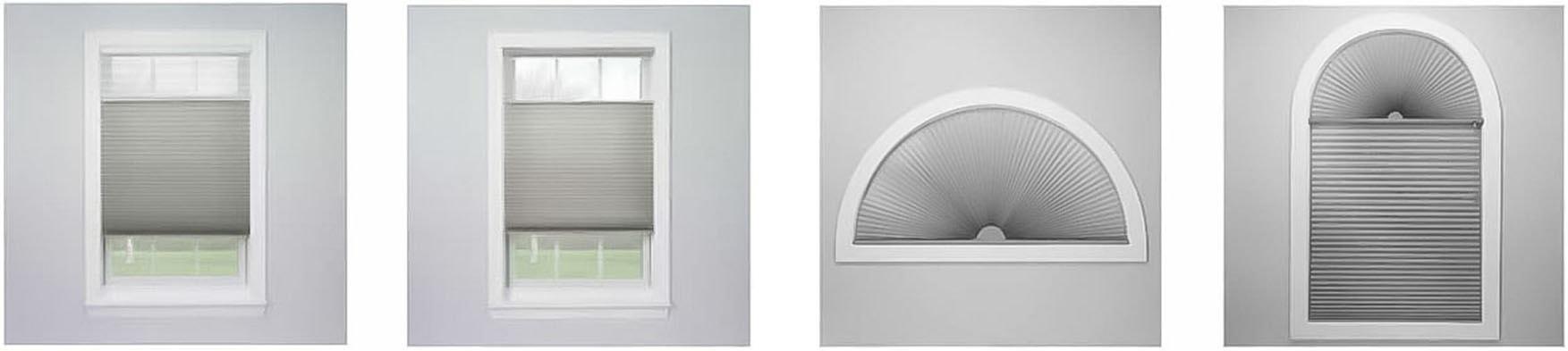 Plisuotų žaliuzių formos netradiciniams langams