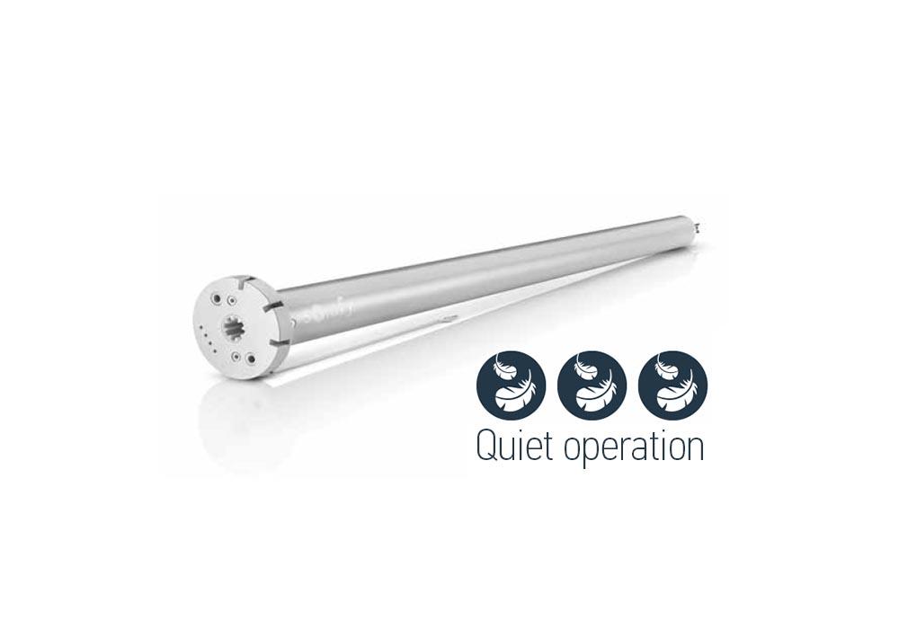 Roller blinds quiet motor