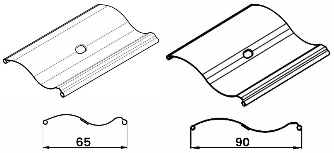 S shape outood blinds lamellae