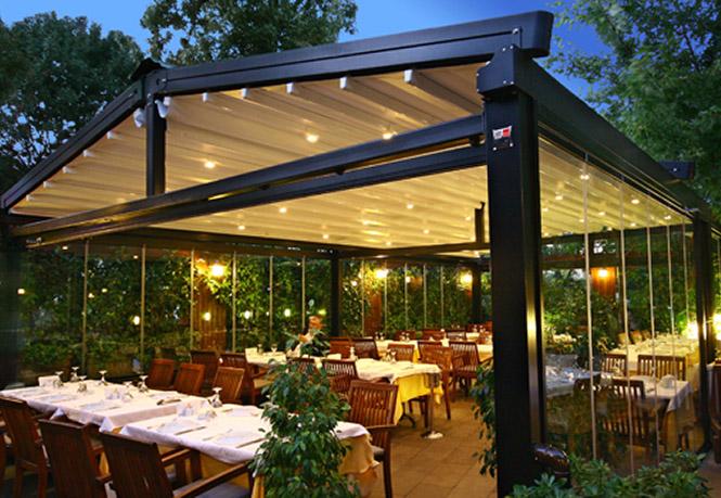 Tradicinė pergola Premium restoranams ir kavinėms