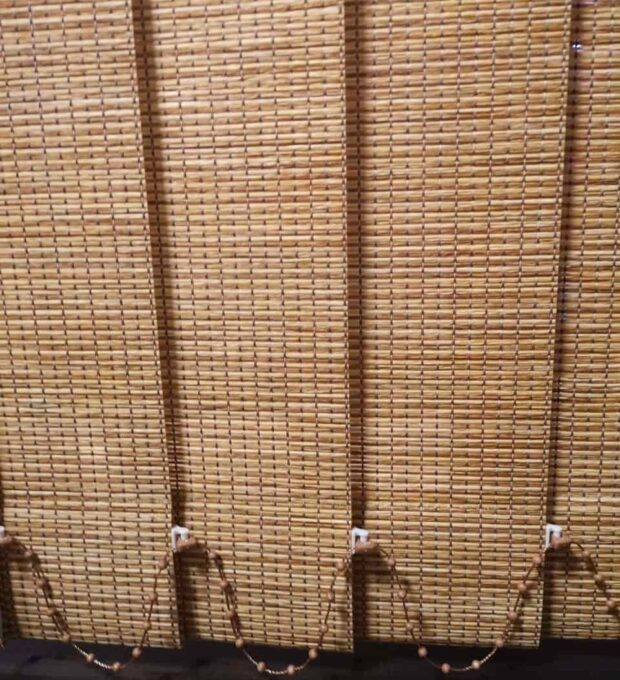 Wood vertical blinds