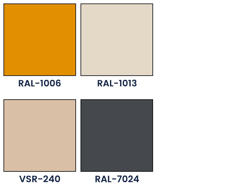 Z 90 additional lamellae color palette