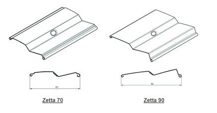 Z formos fasadinių žaliuzių lamelės