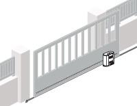 Nustumiamų kiemo vartų automatika