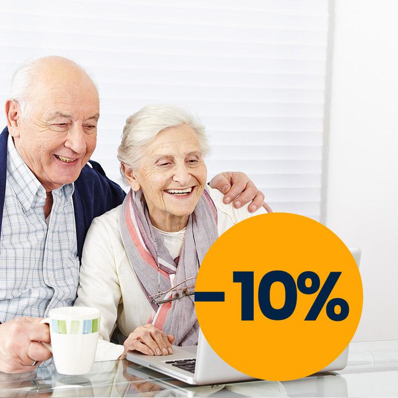 Nuolaida senjorams perkant roletus ir žaliuzes.