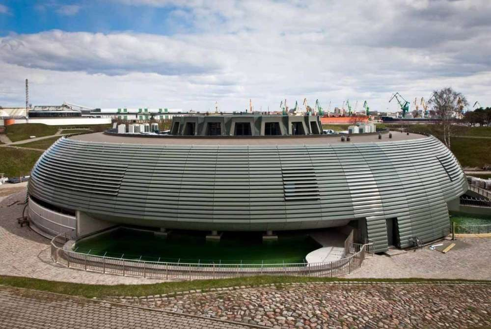 Stacionarios fasado žaliuzės jūrų muziejuje