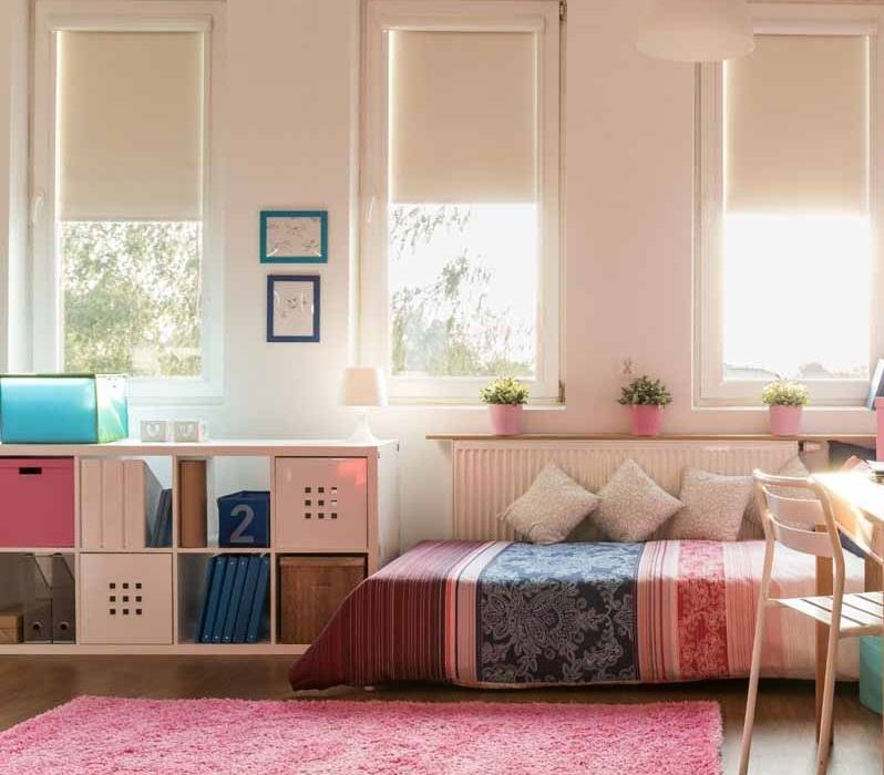 Ryškios spalvos vaiko kambariui