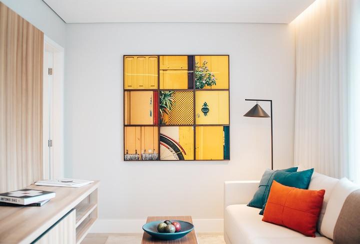 Geltonos dekoro detalės namams komercinėms erdvėms