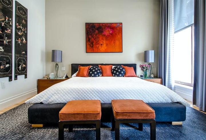Mėlyna viešbučiui populiari spalva 2022 metai