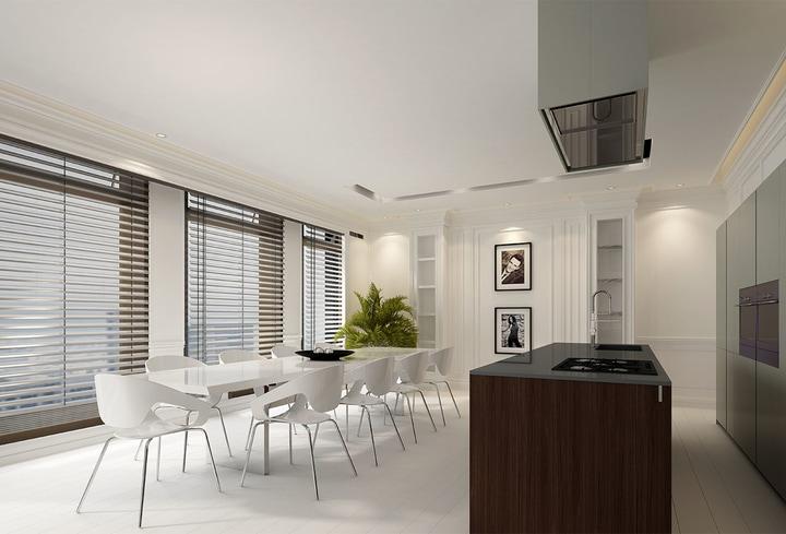 Modernus dizainas namų virtuvei